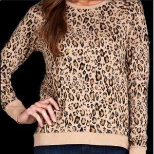 Joie Leopard Print Sweatshirt
